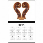 violin_scroll_heart_calendar_print