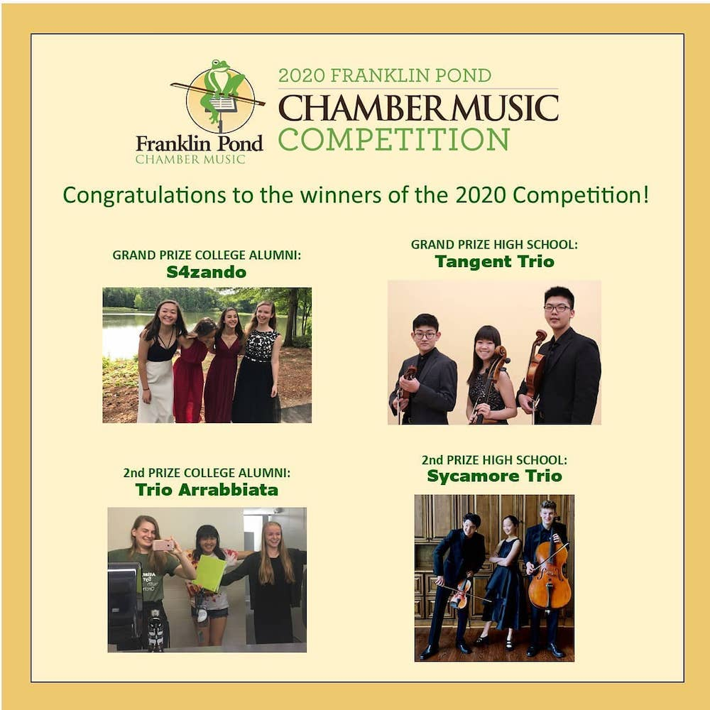 2020 Franklin Pond Chamber Music Competition Winners