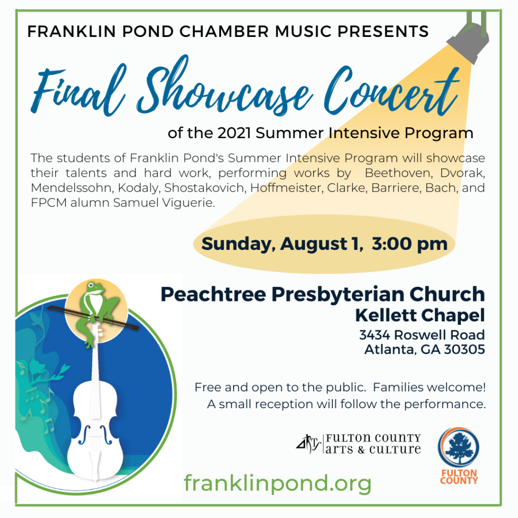Summer Final Showcase Concert information